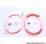Prix discount ! Transmission de frein VTT avant et arrière gaine orange fluo/câble inox