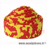 Déstockage ! Ruban de guidon BikeRibbon CORK PLUS rouge/jaune avec liège