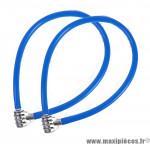 Déstockage ! Lot de 2 antivols vélo câble à code 60cm bleu