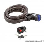 Déstockage ! Antivol vélo câble à clé 80cmx12mm avec support RMS Cable Lock