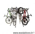 Déstockage ! Présentoir d'exposition support pour 6 vélos pliable chromé BiciSupport