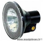 Déstockage ! Lampe/Phare de vélo An Lun halogène noir avec réflecteur pour éclairage avant
