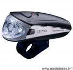 Déstockage ! Eclairage avant noir LS 730 avec LED ecopower marque Trelock - Eclairage vélo