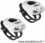 Déstockage ! Kit éclairage M-Wave Cobra III avant + arrière à leds blanches et rouges à piles