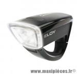 Déstockage ! Eclairage avant Sigma Eloy noir 4 LEDs fixation Clip&Go