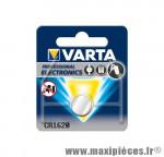Déstockage ! Pile Varta CR1620 type bouton lithium 3V (vendue à l'unité)