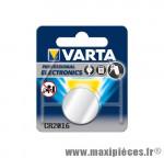 Déstockage ! Pile Varta CR2016 3V lithium - type bouton (vendue à l'unité)