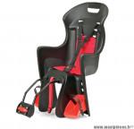 Prix spécial ! Porte bébé arrière Boodie FF Polisport noir & rouge à fixer sur cadre