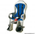 Déstockage ! Siège enfant arrière inclinable avec ABS pliable OK Baby Sirius sur cadre vélo gris/bleu/rouge