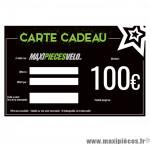 Carte cadeau Maxipièces - Valeur 100 euros