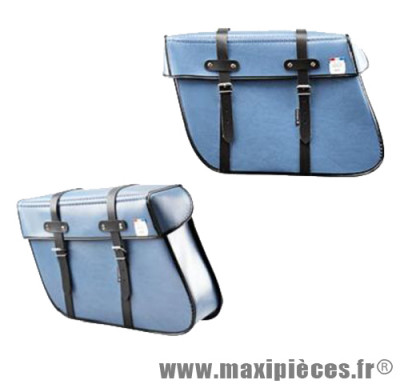 Sacoches vélo Sporfabric s202 trapèze bleu (la paire)