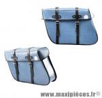 Prix spécial ! Sacoches vélo Sporfabric s202 trapèze bleu (la paire)