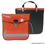 Déstockage ! Sacoche vélo PVC Sporfabric V14 orange mandarine (x1)