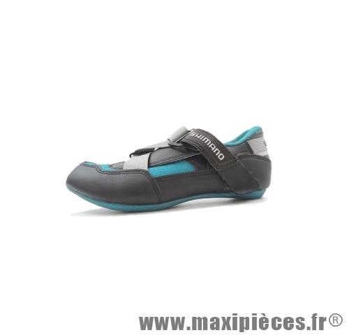 Déstockage ! Chaussure route/course Shimano SH-A070 noir/bleu Taille 40 (paire)