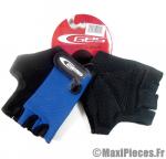 Gants de vélo été / mitaine vélo VTT BMX bleu/noir (taille S) marque GES *Déstockage !