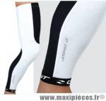 Déstockage ! Paire de jambières pour cycliste taille L/XL noir & blanc Gist