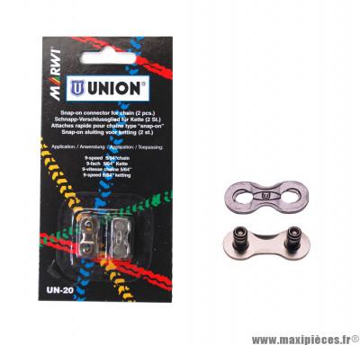 Attache rapide Marwi Union UN-20 chaine 9 vit. Snap On (x2) *Déstockage !