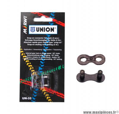 Attache rapide Marwi Union UN-33 chaine monovitesse Snap On (x2) *Déstockage !