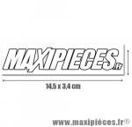 Autocollant Maxipièces blanc grand format (14,5 x 3,4cm) à l'unité