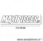Autocollant Maxipièces blanc sur fond transparent (7,1 x 1,6cm)