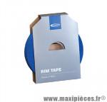 Déstockage ! Fond de jante vélo Schwalbe 19mm rouleau de 50m - Bleu - haute pression max 10 bar