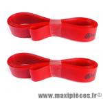 Fond de jante (x2) Herrmans 16mm x 622/700C/28 pouces - Rouge - max 8 bar *Déstockage !