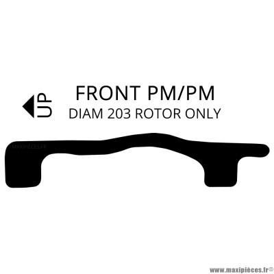 Adaptateur de disque de frein avant / arrière VTT 203mm M-Wave 360629 noir *Prix discount !