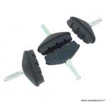Porte-patins de frein x4 ZK1 50mm noir (2 paires) *Prix discount !