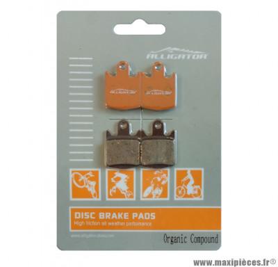 4 Plaquettes de frein (2 paires) organique Alligator Performance - Disc 20 compatible HOPE M4 pour VTT *Déstockage !