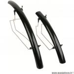 Déstockage ! Garde boue vélo hybrid VTC Zéfal Shield 700c / 28 pouces Noir 45mm (la paire)