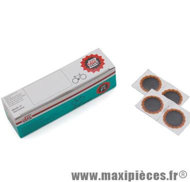 Boîte de 100 rustines F1 rondes rouges de diam. Tip-Top