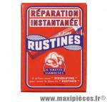 Déstockage ! Sachet de 6 rustines siamoises à tirettes noires de marque vintage française Rustines