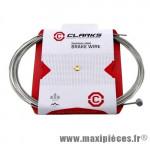 Déstockage ! Câble de frein inox Clarks ø 1.2mm longueur 2000mm VTT/route