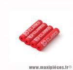 Protection de cadre rouge Clarks pour vélo route/VTT (vendu en kit de 4) *Déstockage !