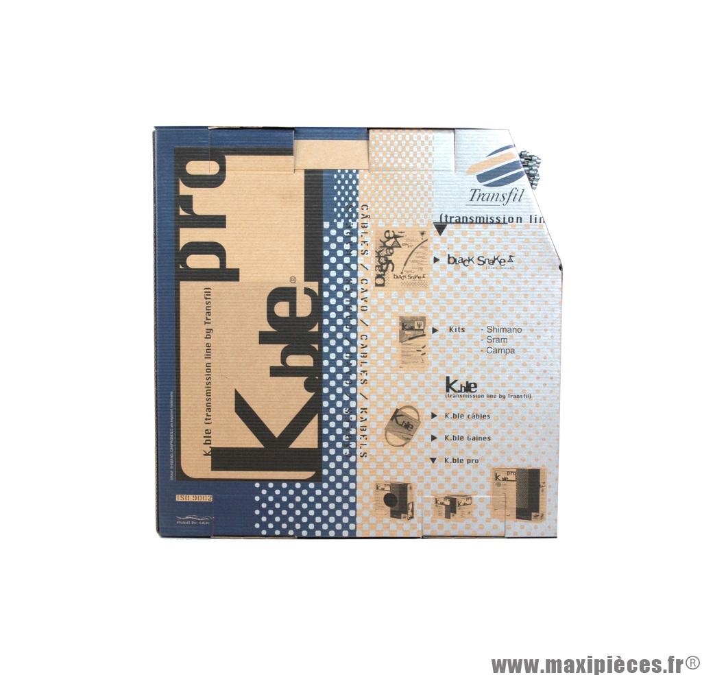Câble de frein inox Kble Transfil compatible Shimano 1.70m (vendu par boite de 100)