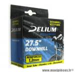 Déstockage ! Chambre à air renforcée Delium Downhill Attitude 27,5x2x10 à 2,50 valve Schrader 34mm 320g