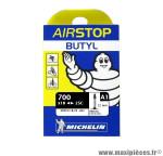 Déstockage ! Chambre à air Michelin AirStop 700x18 à 25C valve Presta A1 52mm 100g