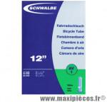Déstockage ! Chambre à air de vélo 12 pouces Schwalbe AV1 Schrader 12 1/2x1.75-2.25