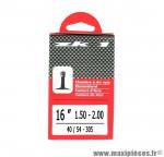Prix discount ! Chambre à air ZK1 16x1,50 à 2,00 valve Schrader 34mm 115g