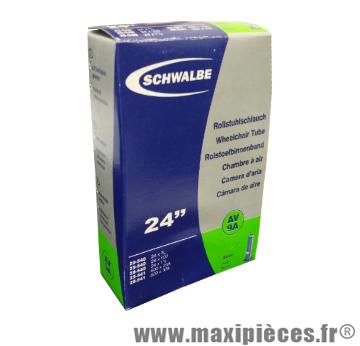 Chambre a air 24 pouces Schwalbe 24x1.00 valve Schrader AV9A