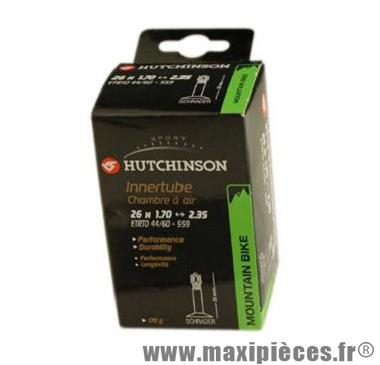 Chambre à air Hutchinson Mountain Bike 26x1,70 à 2,35 valve Schrader 35mm 175g