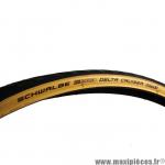 Pneu 700 x 28C HS431 delta cruiser marque Schwalbe noir/beige *Prix spécial !