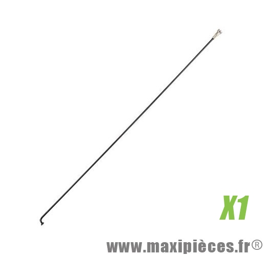 Rayon vélo inox noir MACH1 294mm de large par 2mm Ø avec écrou vendu à l'unité (x1)