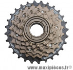 Prix spécial ! Roue libre vélo 6 vitesses Shimano MF-TZ20 14-28 dents bronze/noir