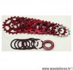 Prix discount ! Cassette vintage rouge pour vélo 8 vitesses Spécialités TA Khéops 13-23 dents compatible Shimano