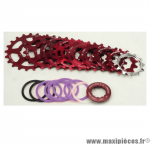 Cassette vintage rouge pour vélo 8 vitesses Spécialités TA Khéops 12-21 dents compatible Campagnolo *Prix discount !