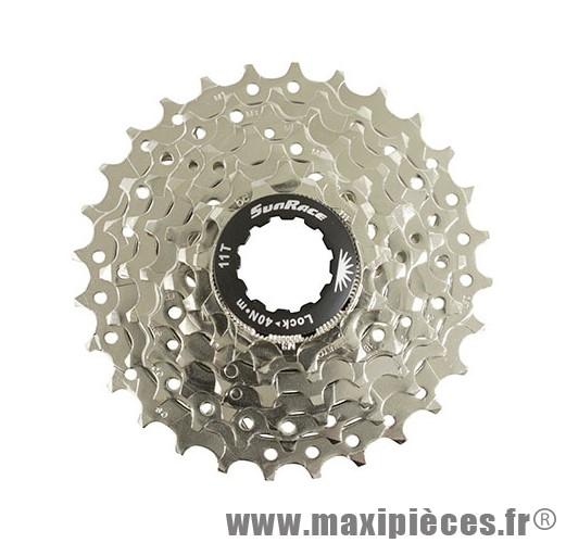 Déstockage ! Cassette pour vélo 7 vitesses Sunrace CSM63 12-28 dents (compatible Shimano/Sram)