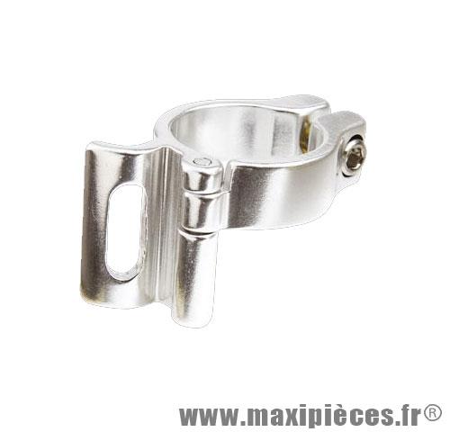 Collier de dérailleur Ø31.8 mm en alu argent *Prix spécial !