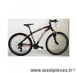 Déstockage ! Vélo VTT 27.5 sleek alu homme 21 vitesses freins v-brake noir-rouge (taille 39) (dérailleur shimano tx-800) - Jumpertrek (Model Expo Neuf)